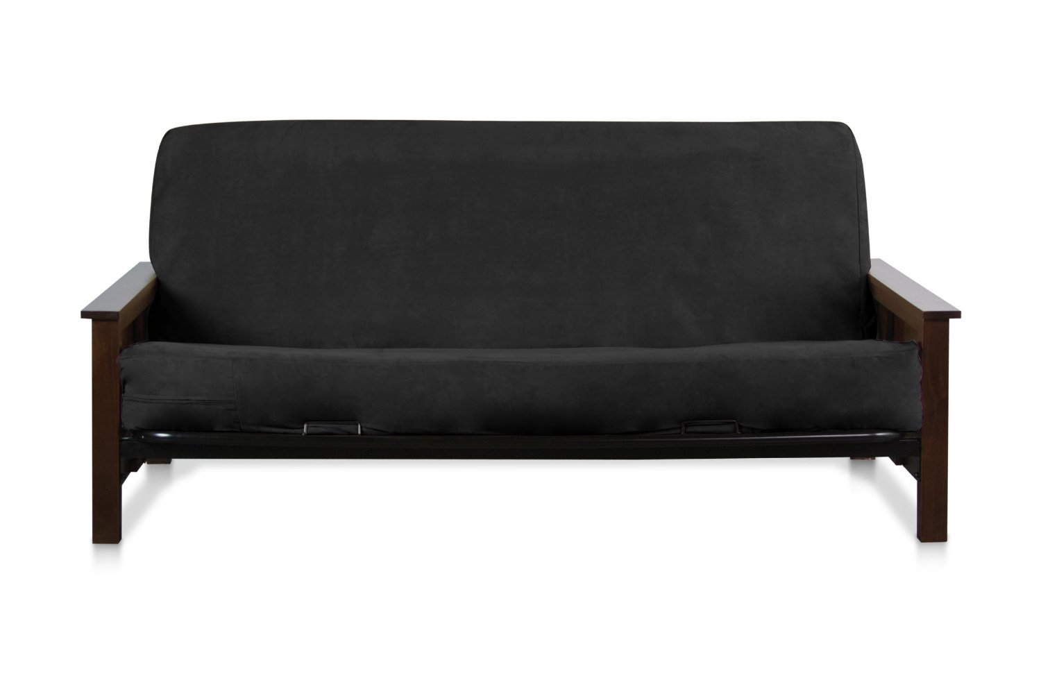 Medium image of amazon    micro suede futon cover protector not includes frame or mattress  black color   home  u0026 kitchen
