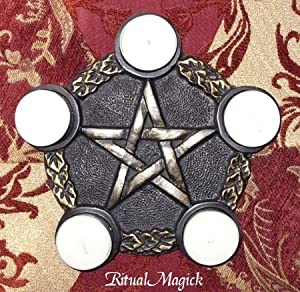 Pentacle Altar Tile with 5 Pentacle Corners