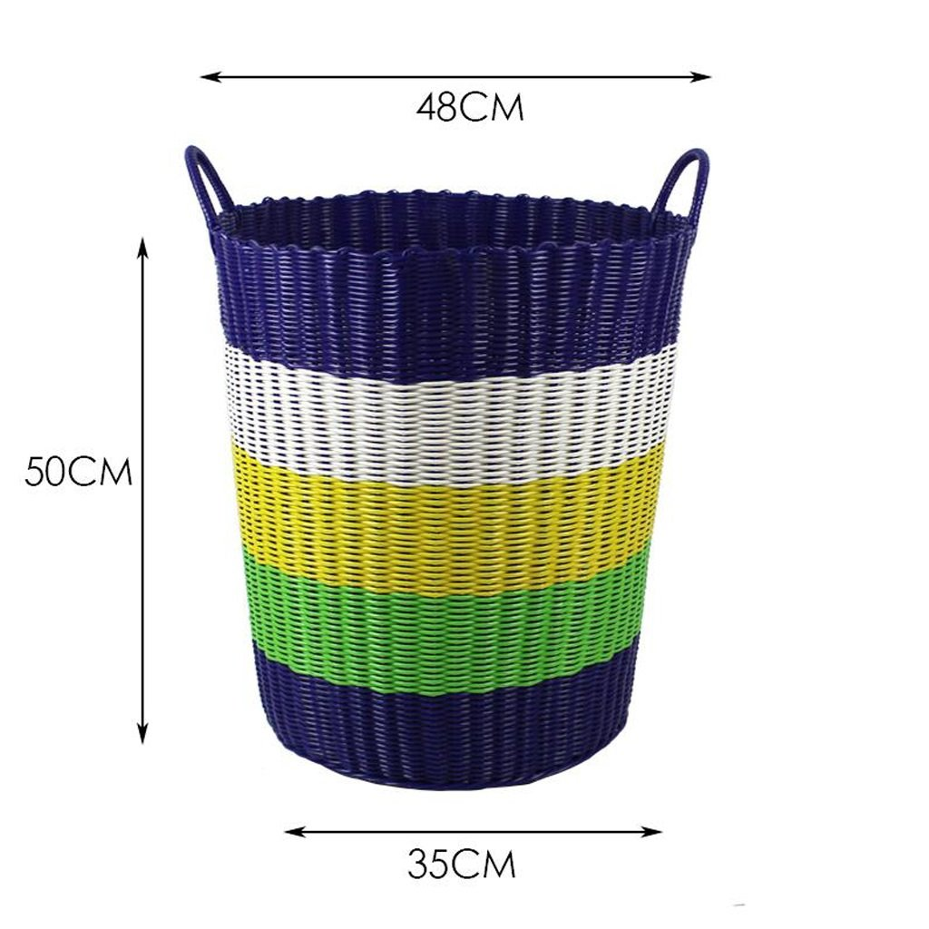 CHENGYI lila Large Capacity Dirty Clothes Storage Basket Weave Box Kunststoff Weave Aufbewahrungsbox Fässer Qualität PVC Material