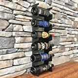 Y-Furniture Design Wall mount steel wine rack (6 bottles)