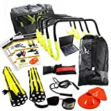 TRAIN UP TO 36 ATHLETES | ELITE TEAM SPEED & QUICKNESS KIT | High School & College | Includes Instructional DVD | Supports Hockey, Basketball, Soccer, Football, Supports All Sports