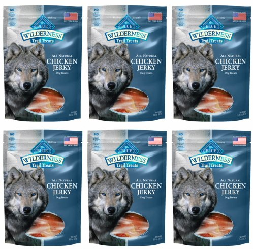 BLUE Wilderness Grain-Free Trail Treats Chicken Jerky for Dogs 1.21875lb (6 x 3.25oz)