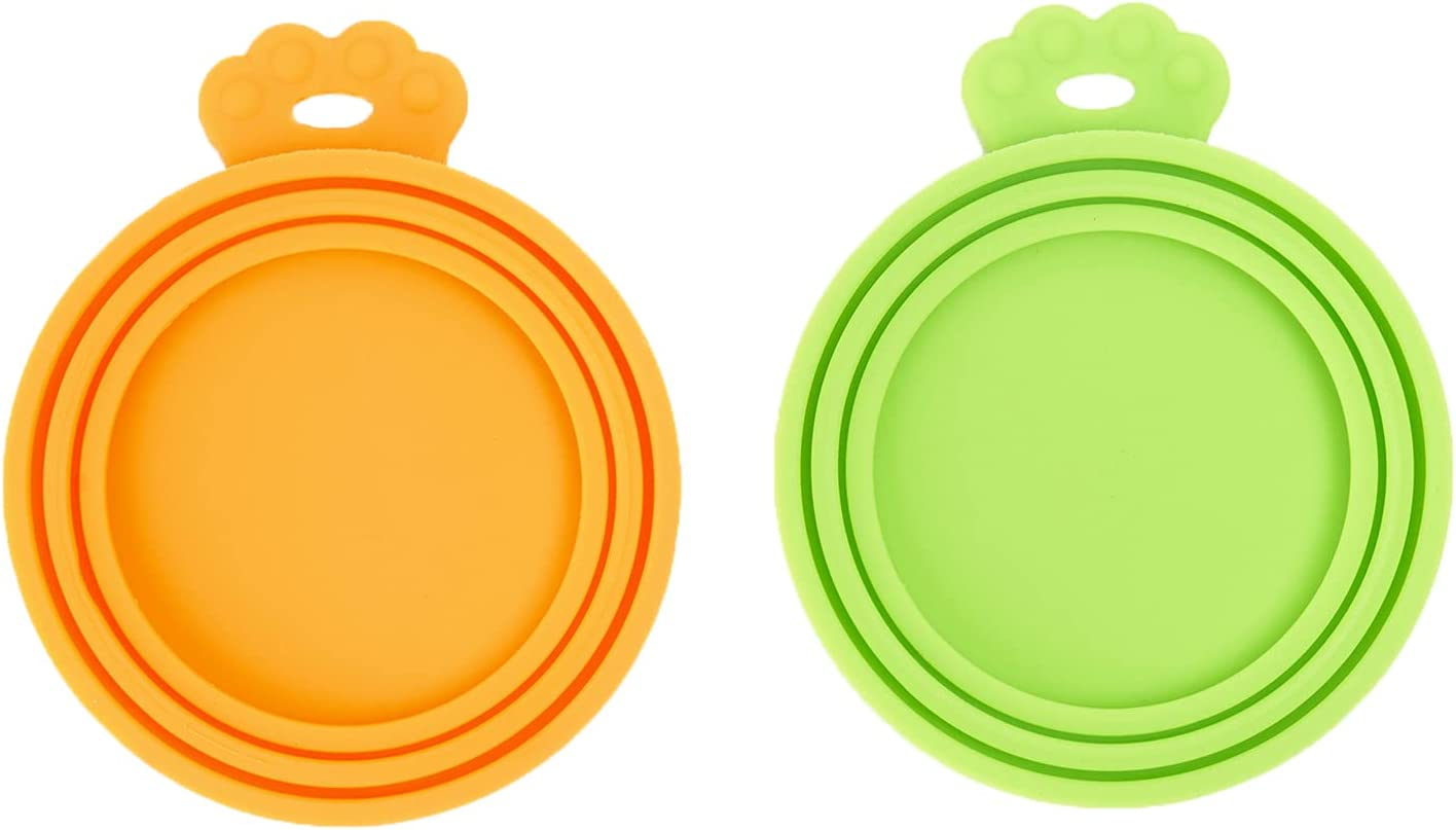 PetBonus Silicone Pet Can Covers, Dog Cat Food Can lids, Fit Multiple Sizes, BPA Free Dishwasher Safe