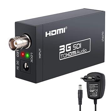 Conversor SDI a HDMI Adaptador de SD-SDI HD-SDI 3G-SDI a HDMI ...