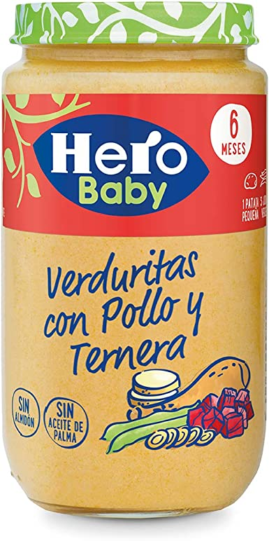 Hero Baby Verduritas de La Huerta Pollo y Ternera - 235 g: Amazon.es: Alimentación y bebidas