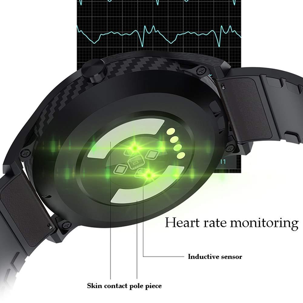 Xiao huang li klocka fitness armband/klocka med pulsklocka/multifunktion/Bluetooth/vattentät/mörkbrun, ljusbrun, blå (färg: Dark Brown) BLÅ