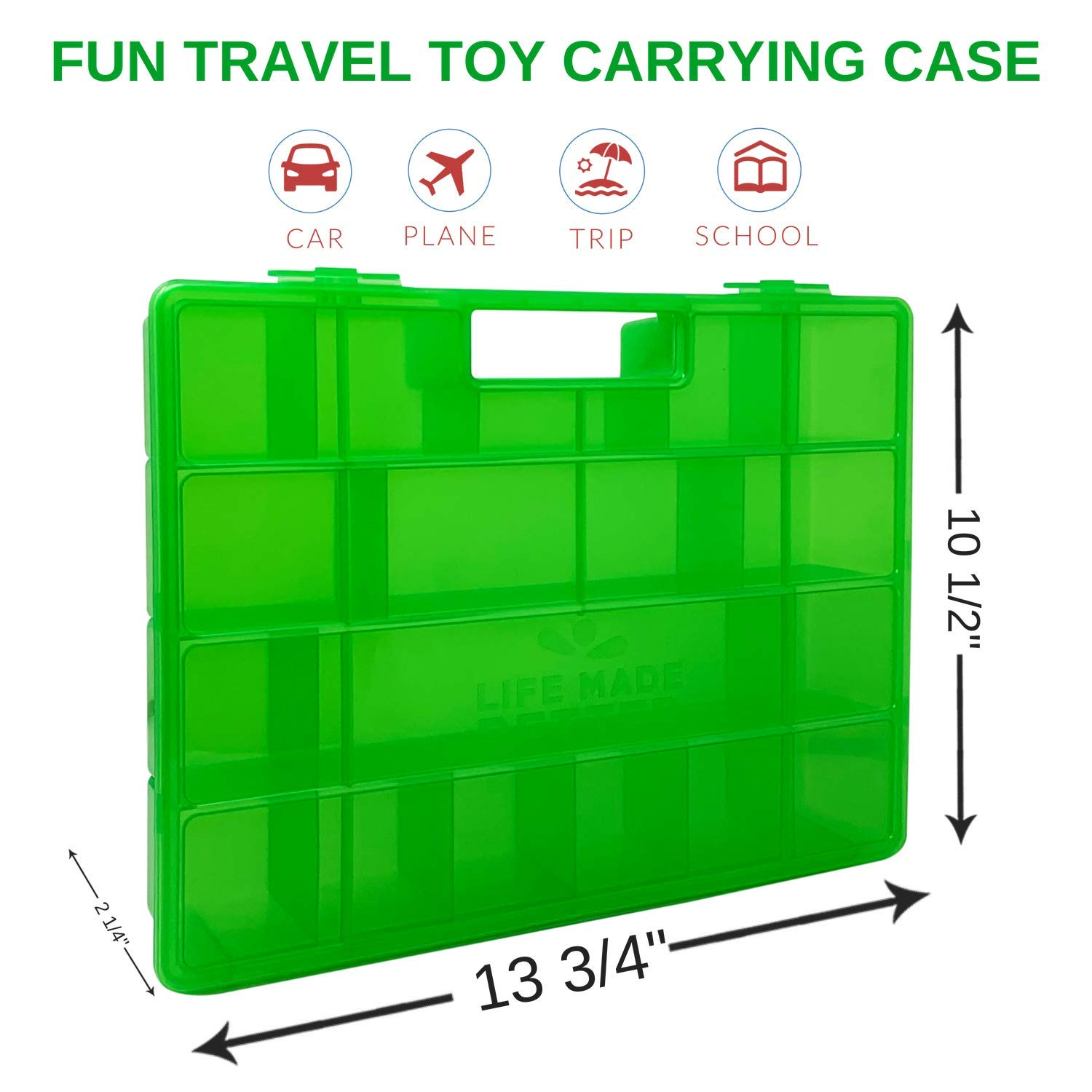 Toy Figure Storage Organization Case not Made by Funko Compatible with Funko Pop Pint Size Mini Figures Life Made Better Green Toy Storage 2.0 Organizer