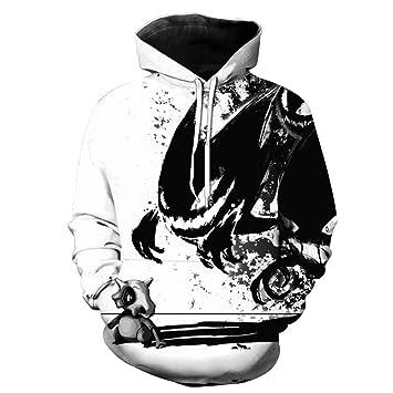 rqnpn5 2018 Sudadera Hombres/Mujeres 3D Hoodies Imprimir Anime Pokemon Mismo patrón Slim Unisex Slim con Estilo Hoodies, 1918,5XL: Amazon.es: Deportes y ...