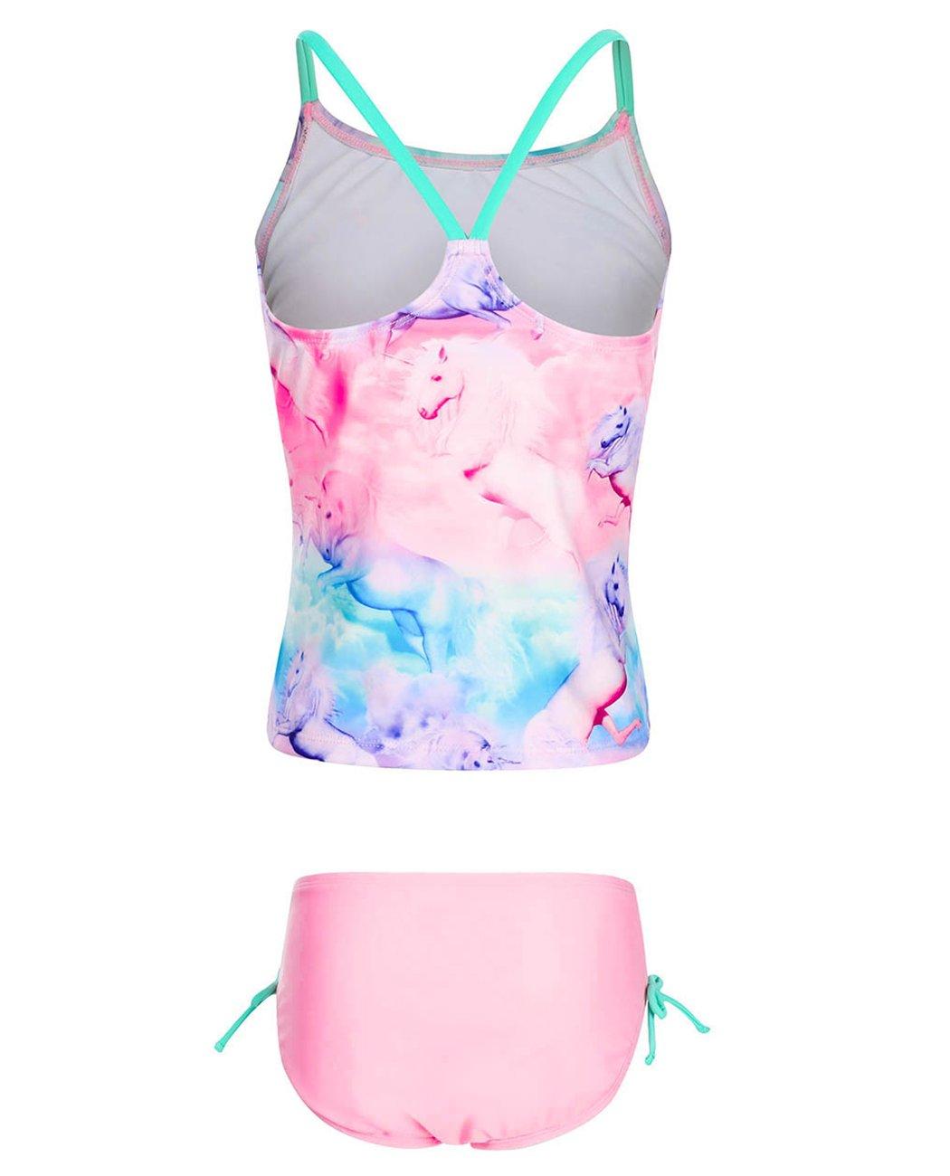 iDrawl Girls Two Piece Swimwear, Racerback Beach Swimming Bathing Suits by iDrawl (Image #2)