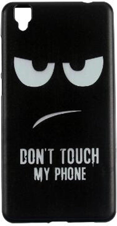 Yrlehoo Para Bluboo Maya, Cuero Funda de Silicona Suave para Bluboo Maya Protectora Cover Case, Donot Touch my Phone (No para Bluboo Maya MAX): Amazon.es: Electrónica