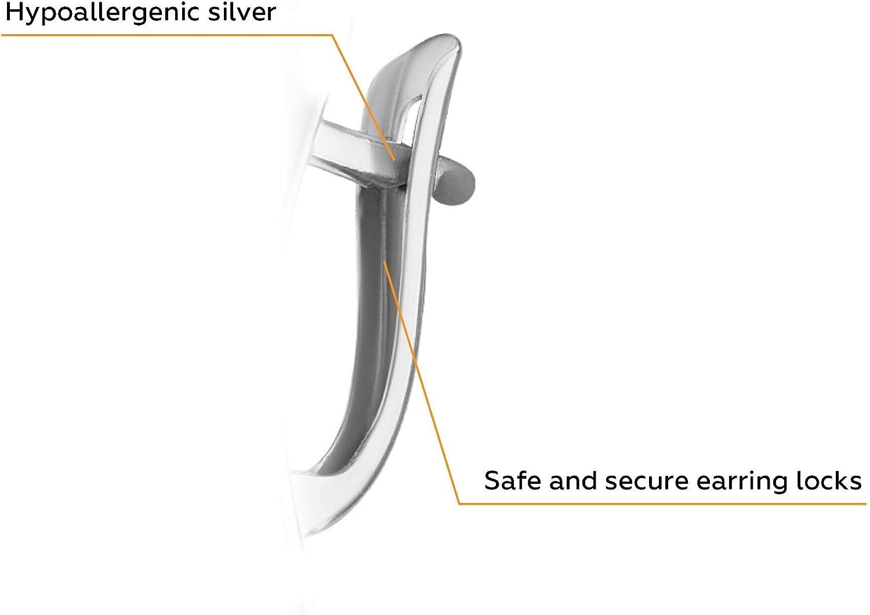 Boucles d/'oreilles en argent 925 certifi/ées en Allemagne Boucles d/'oreilles en argent hypoallerg/éniques dans un emballage exquis
