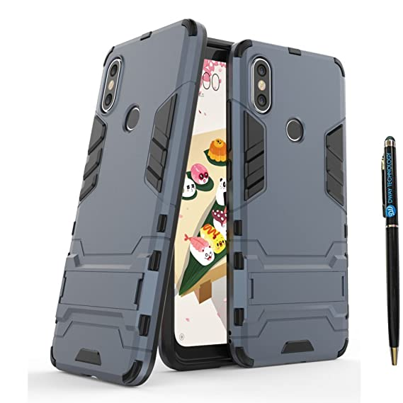 Xiaomi Mi A2 Lite Armor Case DWaybox 2 in 1 Heavy Duty Armor Hard Back Case Cover with Kickstand for Xiaomi Mi A2 Lite/Redmi 6 Pro 5.84 Inch (Black ...