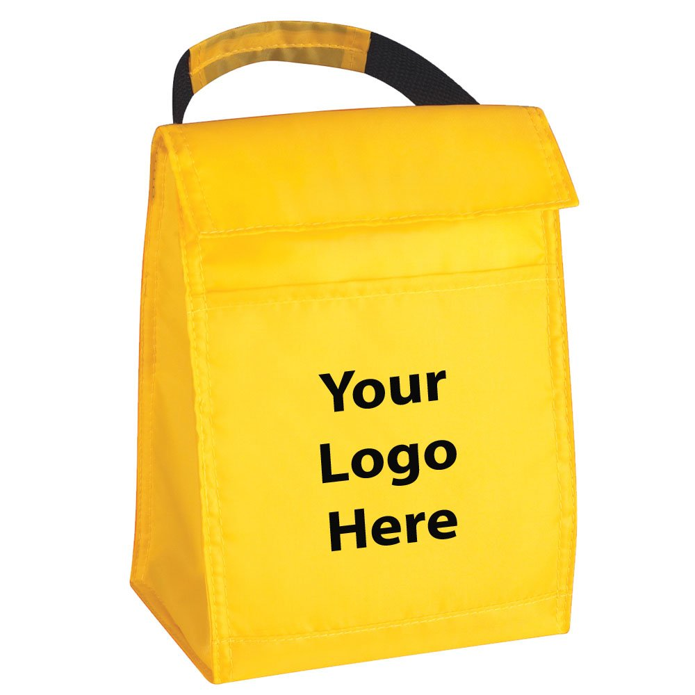Budget Lunch Bag - 100 Quantity - $2.35 Each - PROMOTIONAL PRODUCT / BULK / BRANDED with YOUR LOGO / CUSTOMIZED