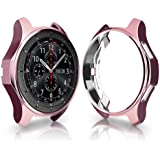 Case Compatible with Samsung Gear S3 Frontier & Classic & Galaxy Watch 46MM, FOLOME Soft TPU Plated [Scratch-Proof] All-Around Protective Bumper Shell (Rose Pink)