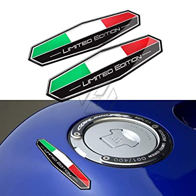 3D Motorbike Decals Italy Flag Sticker Italia Limited Edition Sticker Motorcycle Car Tail Body Sticker: Kitchen & Dining