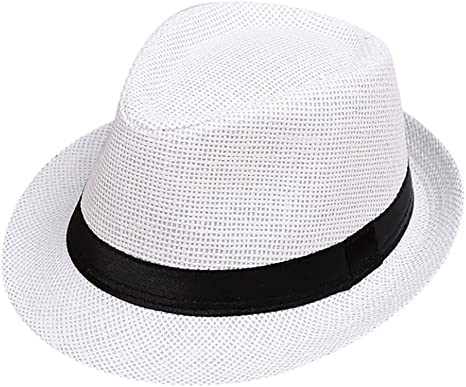 Kids Summer Straw Hat Baby Infant Toddler Boys Fedora Beach Sun Daily Hat