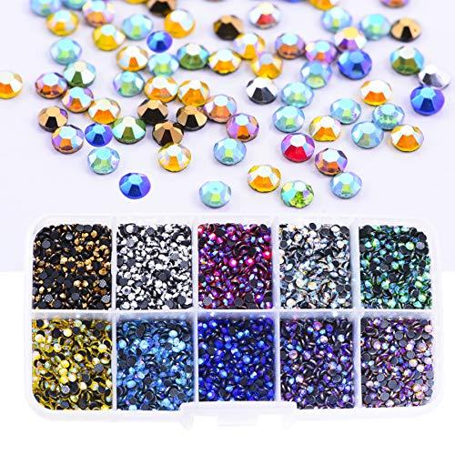 BLINGINBOX SS10 5000pcs Mix Colors AB with Box 10 Colors Hot Fix Rhinestones Crystal Glass Strss Hotfix Rhinestones for Garment