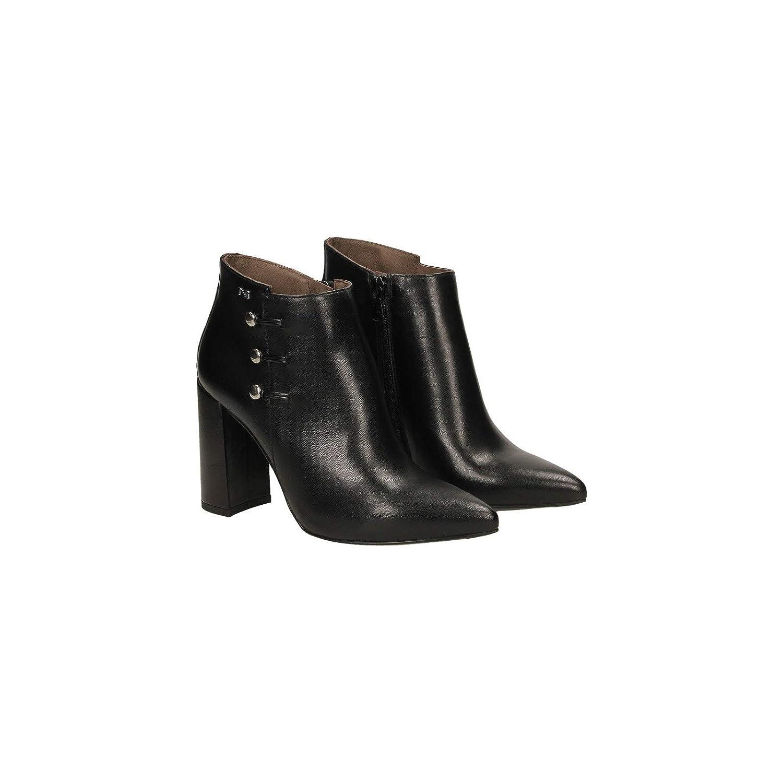 schwarz schwarz schwarz Giardini schuhe damen Tronchetto Pelle nera A806871DE 100 39af5a