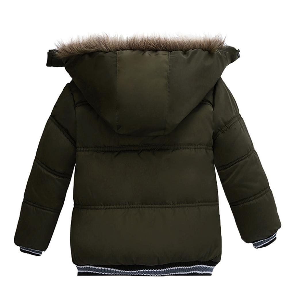 dd96379ff9 ... Mantel Jungen Mädchen Dick Jacke Gepolsterte Winterjacke Kleidung  2-5Jahre Armee größeres Bild