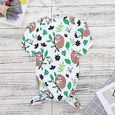 Baby Boys Girls Cartoon Animal Sleeping Bag Sloths Reindeer Printed Unisex Baby Wearable Sleep Sack Sleep Gown (3-6M, Sloth): Sports & Outdoors