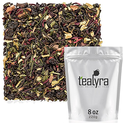 Tealyra - Fat Burner - Wellness Weight Loss Tea Blend - Pu Erh Aged with Sencha Green Tea and Wu-Yi Oolong - Diet Refreshing - Natural Ingredients - Healthy - Detox Loose Leaf Tea - 220g (8-ounce) (Tea Refreshing)