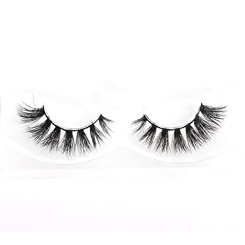 73829b32fab Lunamoon 3D Mink False Eyelashes Siberian Mink Fur Long Thick Hand-made  Reusable Eyelashes Natural
