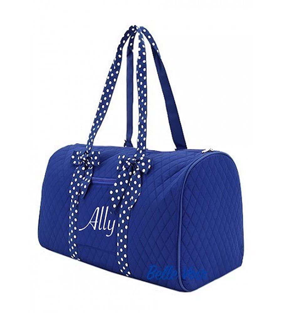 Top Quality Durable Belle Voir Quilted Duffel Bag available with personalization