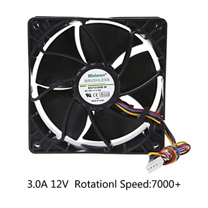 amazon com yuly miner cooling fan cpu cooling fan 12038 12v 3a dual rh amazon com