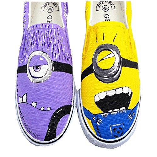 5b93219a87 good Despicable Me 2 Minions Shoes Anime Design Women s Lace-up Canvas Shoes  Low Top