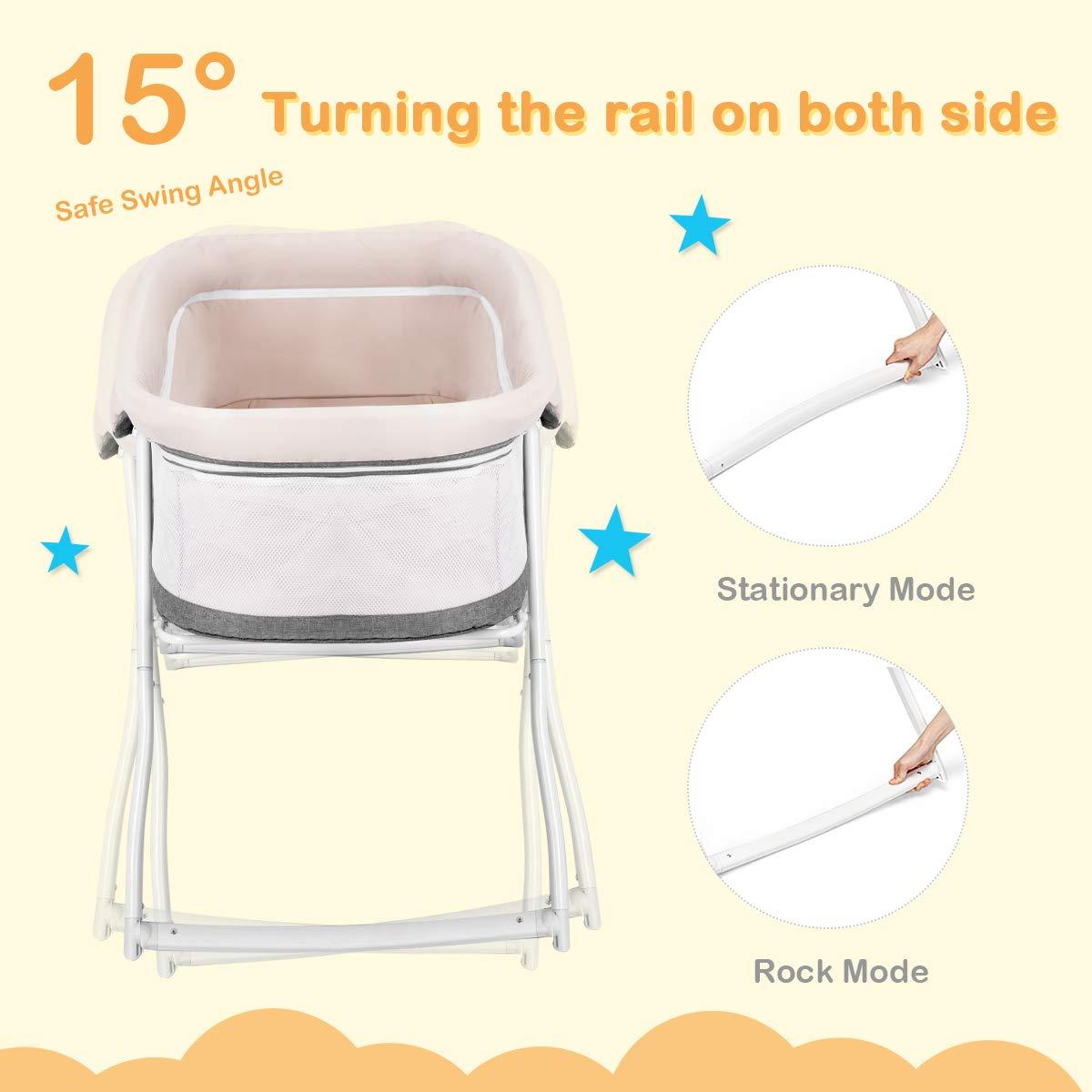 Amazon.com: Baby Joy - Cuna de viaje 2 en 1 con colchón ...