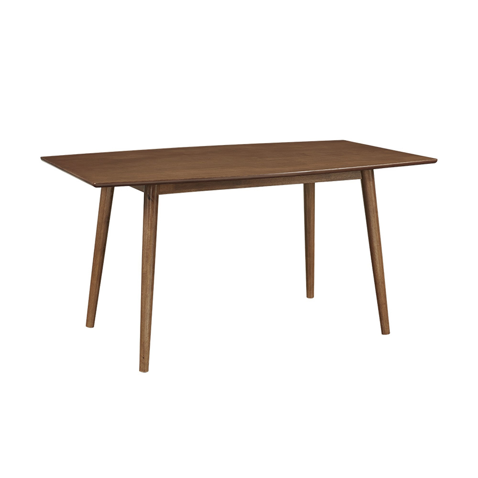 WE Furniture 60'' Mid-Century Wood Dining Table - Acorn by WE Furniture
