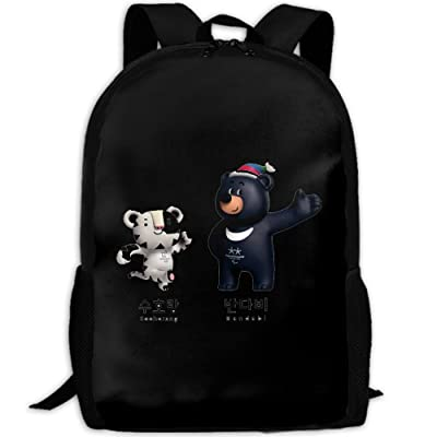 2018 Pingchang Winter Olympic Games And Winter Paralympics Mascot Cartoon Waterproof Shoulder Bag For Unisex