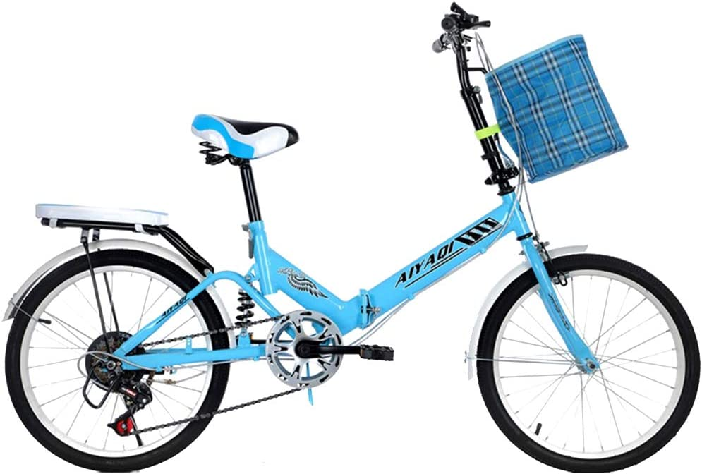 AOHMG 20 Bicicleta Plegable para Adultos de Peso Ligero, 7 ...