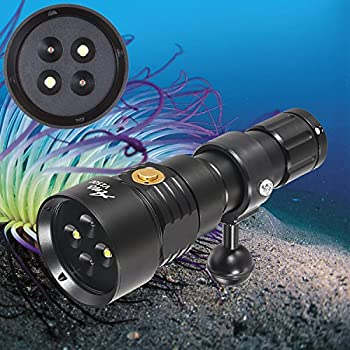 Image of ANO V1500 Diving Video Light with White Red Color 1500 Lumens Diving Photo Light with Kingkong 26650 Battery and USB Charger Recreational Waterproof Underwater Video Light Diving Lights