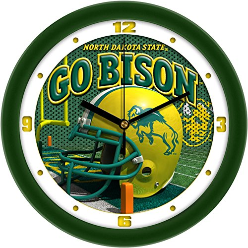 NCAA North Dakota State Bison Helmet Wall Clock