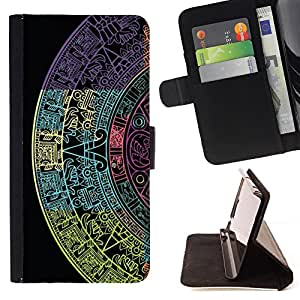 - WALLPAPER SURFACE PATTERN DESIGN TEXTURE - - Prima caja de la PU billetera de cuero con ranuras para tarjetas, efectivo desmontable correa para l Funny House FOR Sony Xperia m55w Z3 Compact Mini