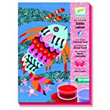 Djeco / Colored Sand/Glitter Art By Numbers, Rainbow Fish