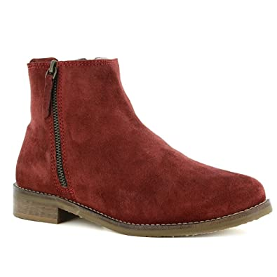 0405d4ab Adesso Jen 03168 Womens Warm Lined Leather Ankle Boots - Bordo EU 41 ...
