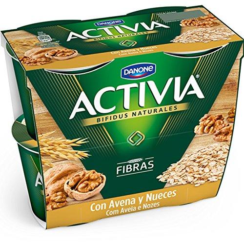 Danone Activia Yogur con Avena y Nueces - Paquete de 2 x 120 g - Total: 240g: Amazon.es: Alimentación y bebidas