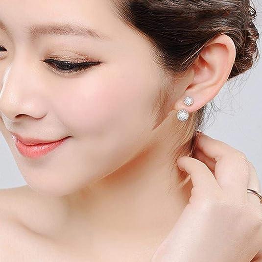 ROUSHUN ️Women Earrings Fashion Holiday Sale Women Jewelry Rhinestone Austria Crystal Pendant Hoop Earrings