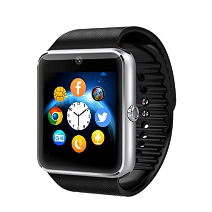 Bluetooth Smart Watch Touchscreen with Camera, EZone GT08 Unlocked Watch Cell Phone with Sim Card Slot, Smart Wrist Watch, Smartwatch for Android ...