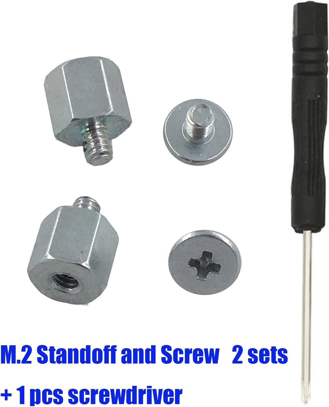 Screwdriver Hex Standoff Spacer ZRM/&E 2 Sets M.2 SSD Screw Kit for M.2 Drives General M.2 Support Motherboard Mounting Accessories Screw
