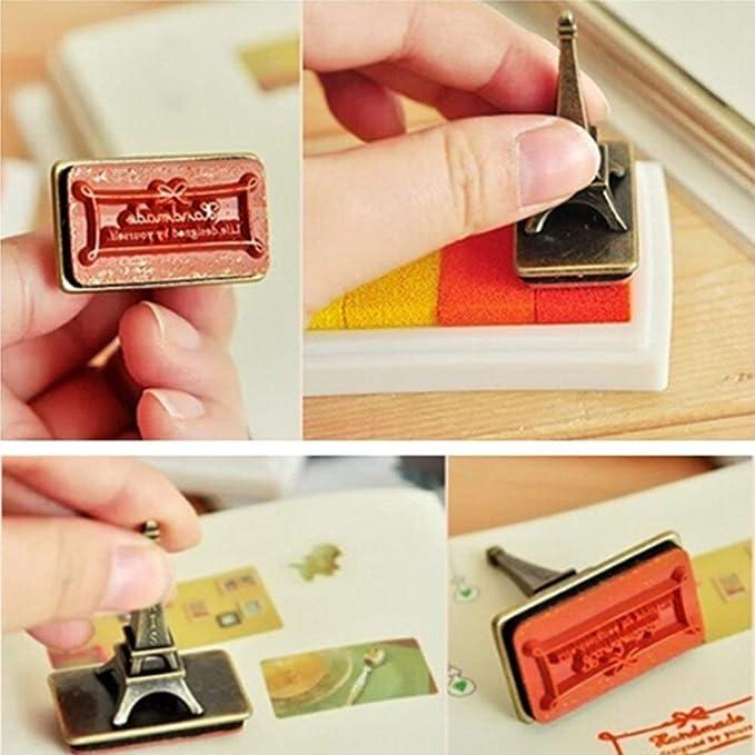 zum Basteln Kartenherstellung 12Pack Scrapbooking Gummi-Stempel Rainbow Craft Finger-Stempelkissen f/ür Kinder