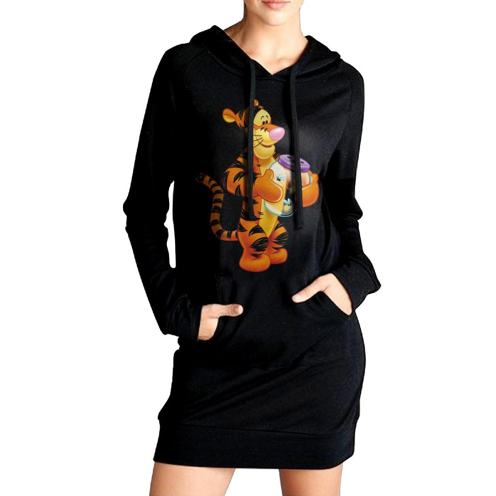 ABU Transparent Tigger The Cartoon Show Women's Long Sweatshirt With Pocket