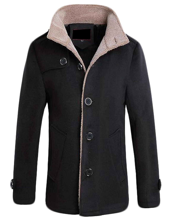 Yayu Mens Winter Lightweight Thicken Coat Puffer Jacket Outwear with Hood