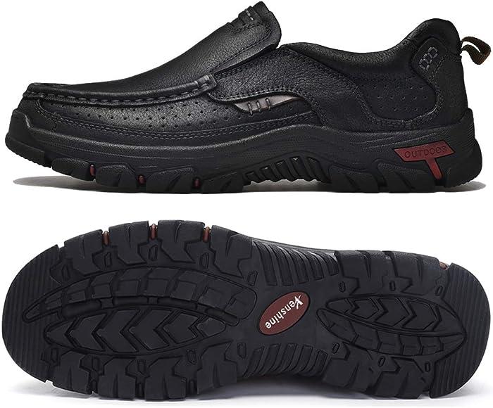 VENSHINE Mens Walking Shoes Leather