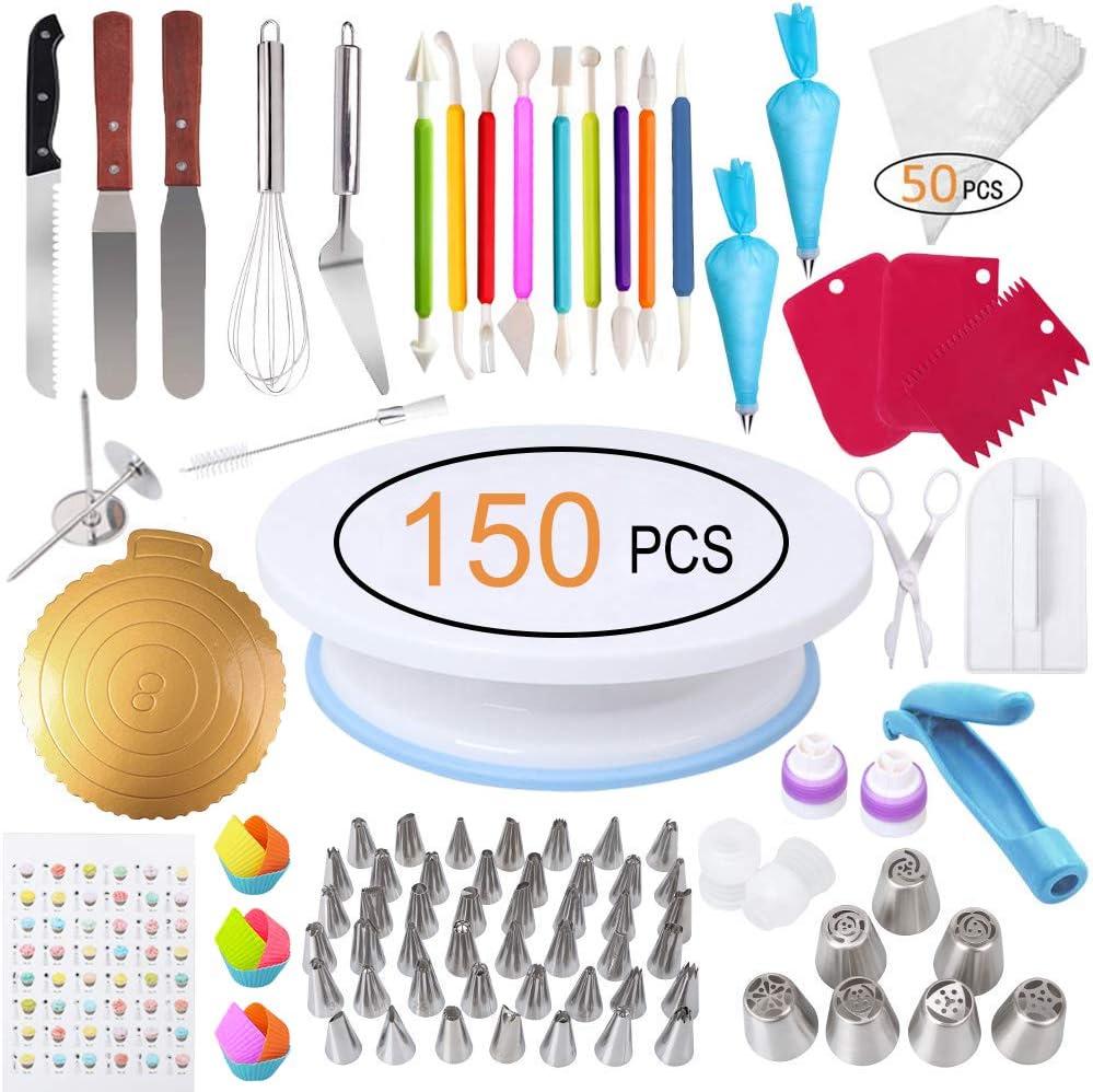 Amazon.com: Kit de decoración para tartas, 150 piezas de ...