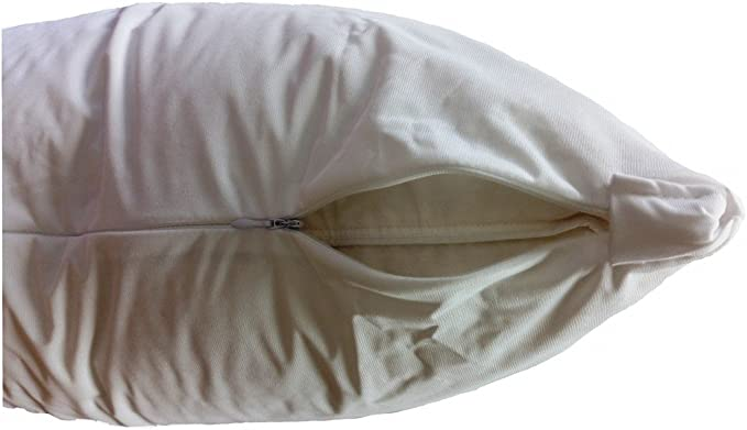 50 Standard Vinyl Zippered Pillow Cases Waterproof Bed Bug Dust Mite Protection