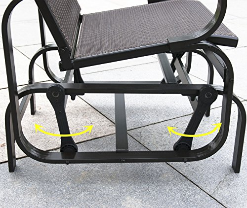 PatioPost Sling Glider Outdoor Patio Chair Textilene Mesh Fabric, Mocha by PatioPost (Image #5)