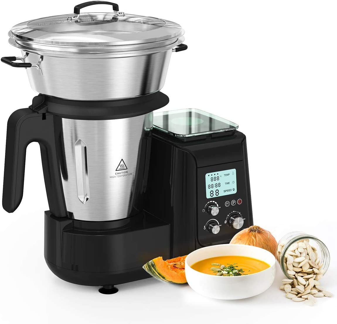 Robot de Cocina, Batidora, Soup Maker Multifuncional MLITER ...
